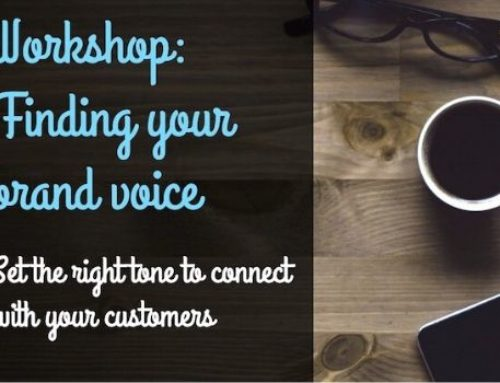 Business Workshop – How to find your brand voice – 3rd March 2020