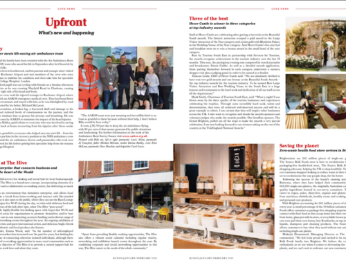 In the news – Kudos Magazine page 8